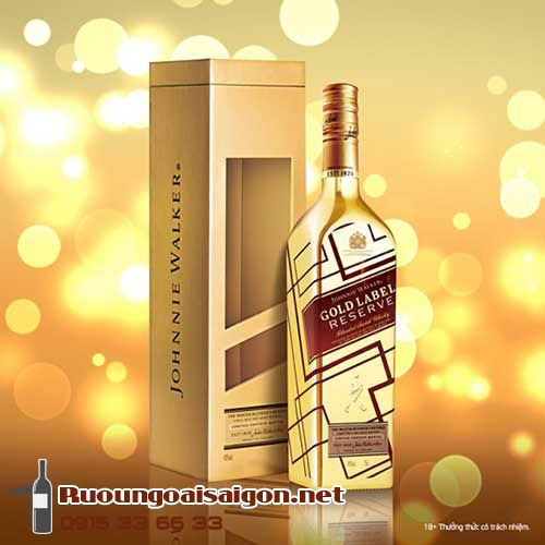 Rượu Johnnie Walker Gold Label Reserve Limited Edition - Chai vàng IBC - ruoungoaisaigon.net